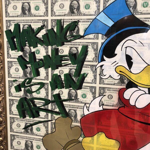 can gallery graffiti dollars money dagober duck