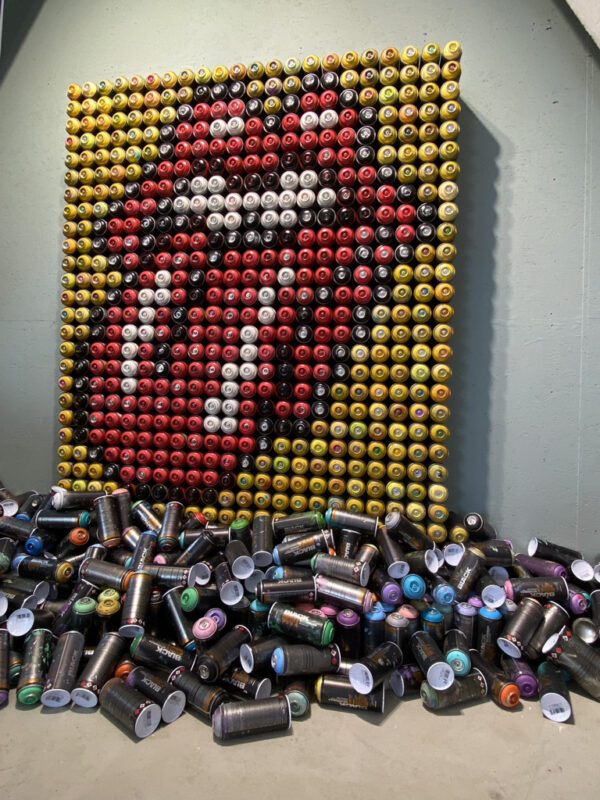 can gallery thijs legger rolling stones logo empty cans