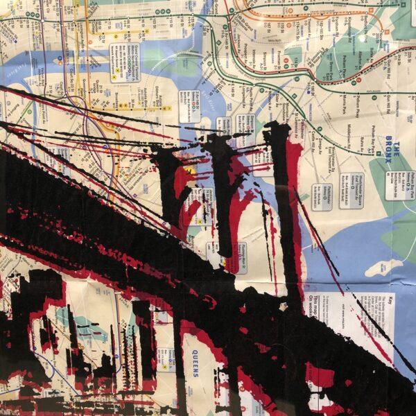 can gallery stencil art nyc graffiti subway map