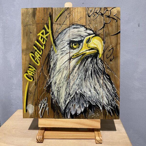can gallery graffiti american bald eagle