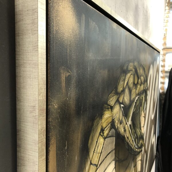 can gallery strijps graffiti cobra snake gold