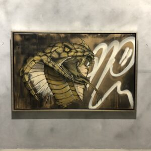 can gallery strijps graffiti cobra snake gold